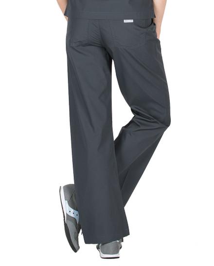 Pewter Scrub Pant - Petite Grey Label