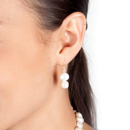 Freshwater Pearls blue sky Luxe Earrings