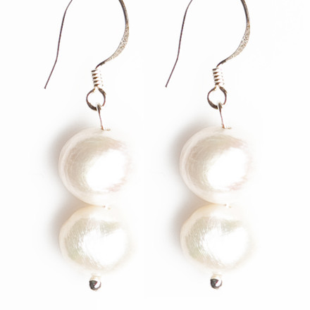 Freshwater Pearls blue sky Luxe Earrings