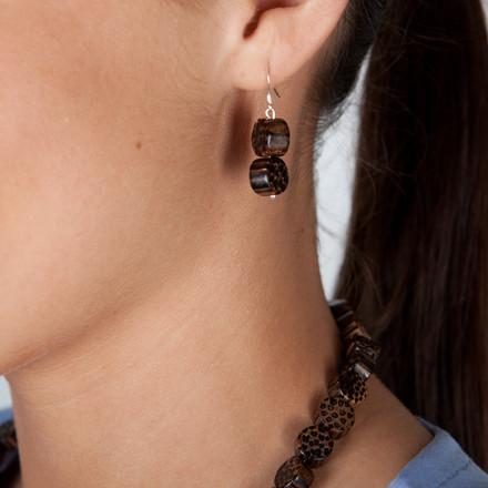African Safari blue sky Luxe Earrings