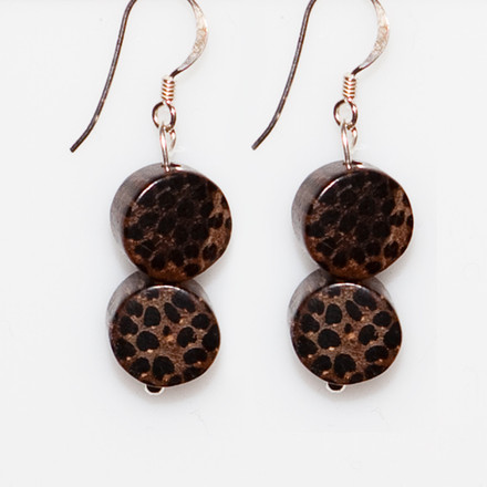 African Safari blue sky Luxe Earrings