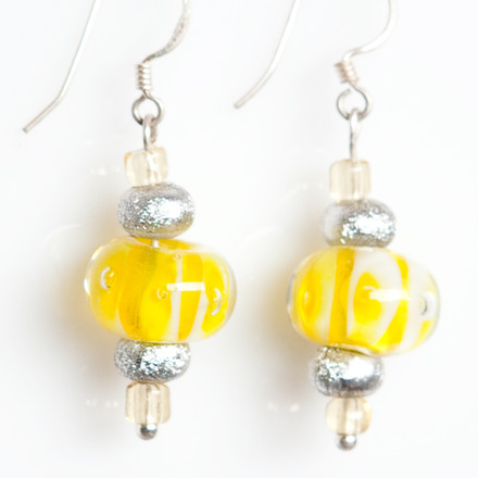 Lemon Ice blue sky Luxe Earrings