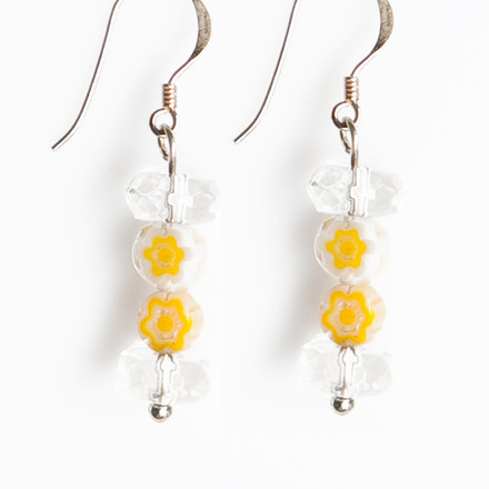 Spring Garden blue sky Luxe Earrings