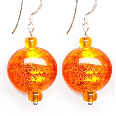Citrus Garden blue sky Luxe Earrings