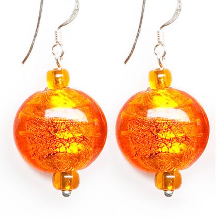 Citrus Garden blue sky Luxe Earrings