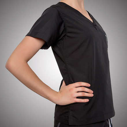 Jet Black Original Scrub Tops