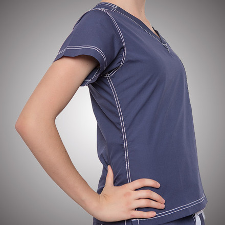 Urban Scrubs Navy Top