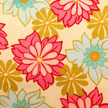 Pink Dahlias blue sky scrubs Poppy Scrub Cap
