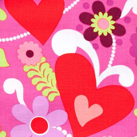 Love and Peace Poppy Scrub Hat