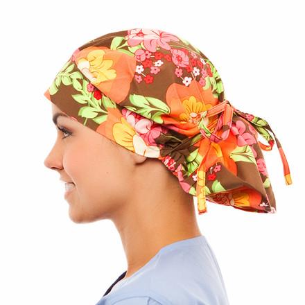 Bradley Floral Poppy Scrub Hat