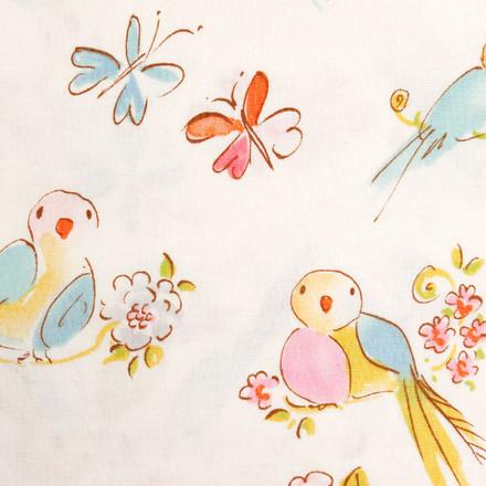 Swallows in Spring Poppy Scrub Hat