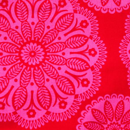 Scarlet Lace Poppy Scrub Hat