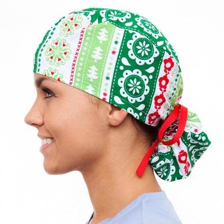 A Dickens Christmas Pony Scrub Hat