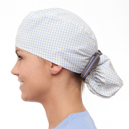 Astoria Plaid Pony Scrub Hat