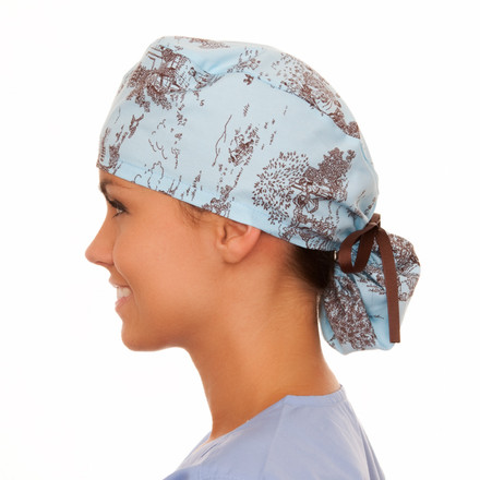 Jamestown Toile Pony Scrub Hat