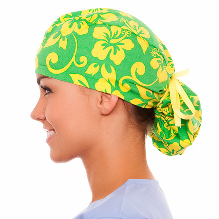 Palm Estate Pony Scrub Hat
