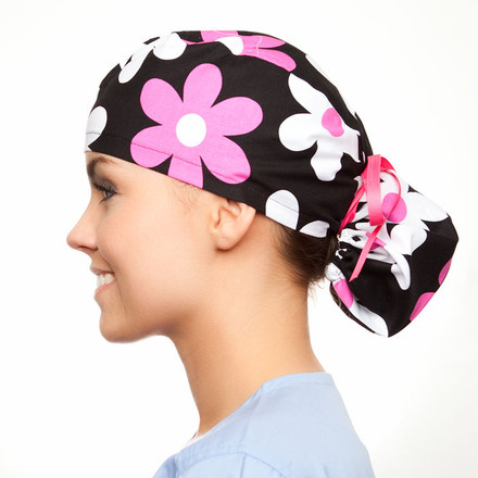 Brooklyn Blooms Pony Scrub Hat