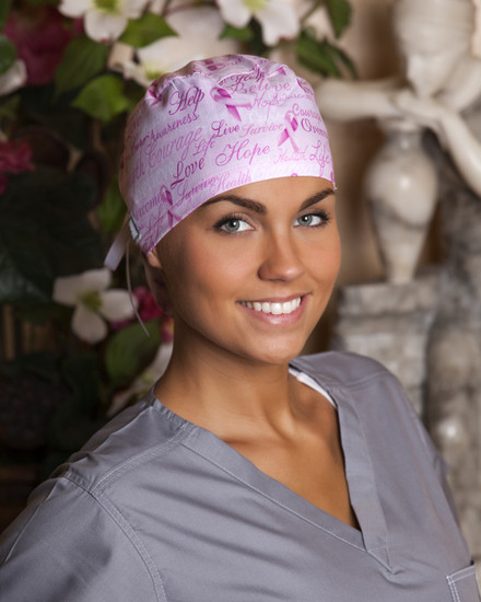 Courage for a Cure Pony Scrub Hat