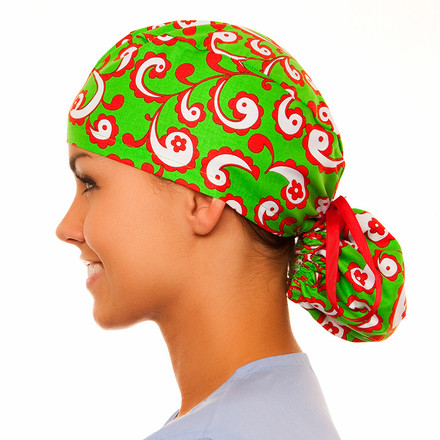 Mistletoe Pony Scrub Hat