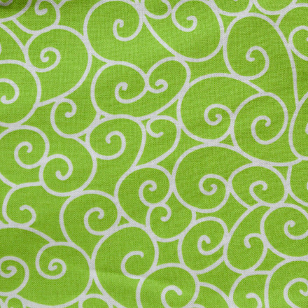 Lime Swirl pony tail surgical scrub hat for women