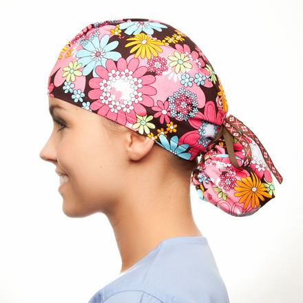 Hippie Chick Pony Scrub Hat