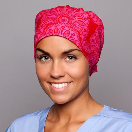Scarlet Lace Pixie Scrub Hat