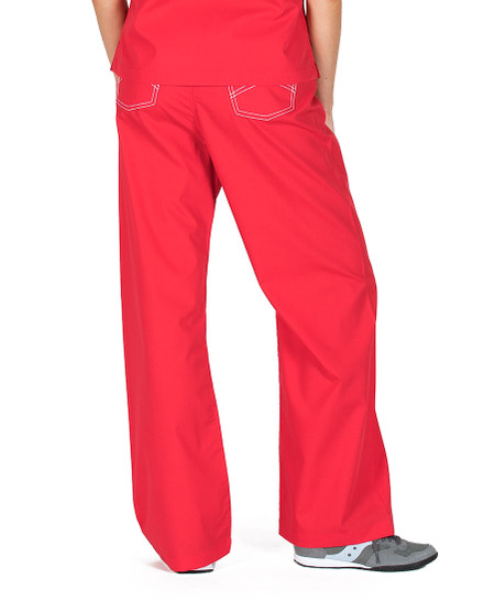 Sun-Kissed Scarlet Scrub Bottoms