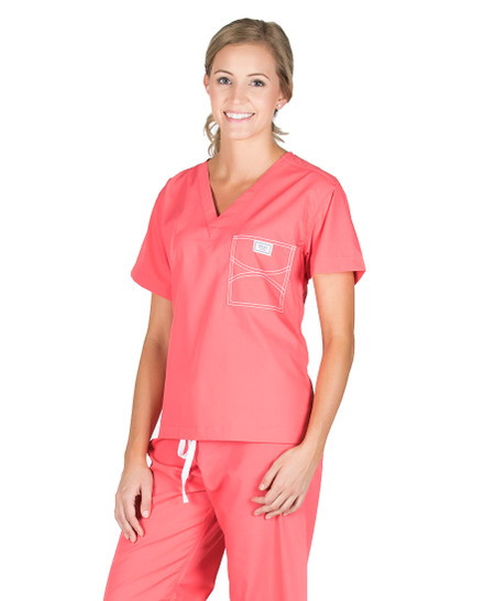 Zoe Emberglow Scrub Top