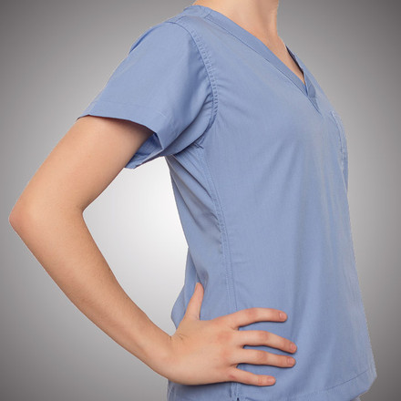 Ceil Blue Scrubs Top