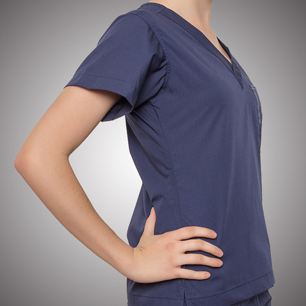 Navy Scrubs Top
