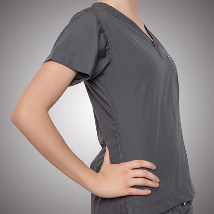 Pewter Scrubs Top