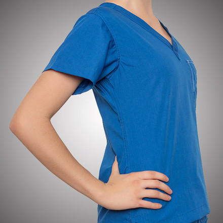 Galaxy Blue Scrubs Top - Petite Grey Label