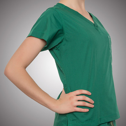 Hunter Scrubs Top - Petite Grey Label
