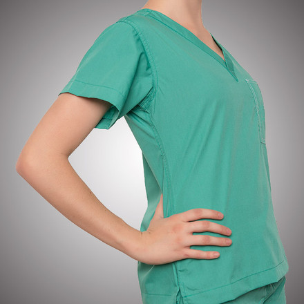 Surgical Green Scrubs Top