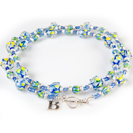 Beachside blue sky Luxe Lanyards