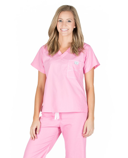 Pink Sorbet Shelby Scrub Tops
