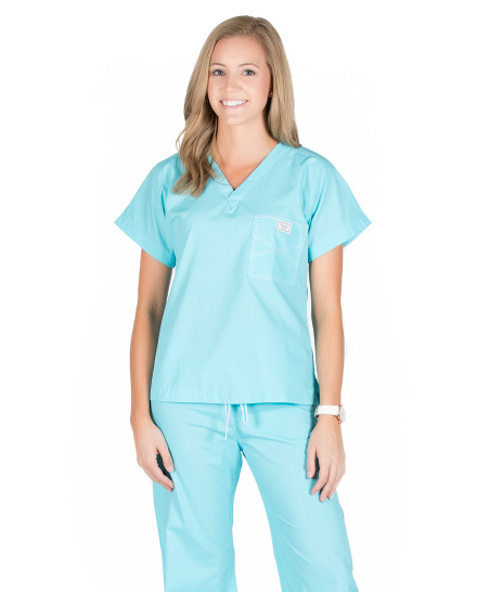 Turquoise Shelby Scrub Tops