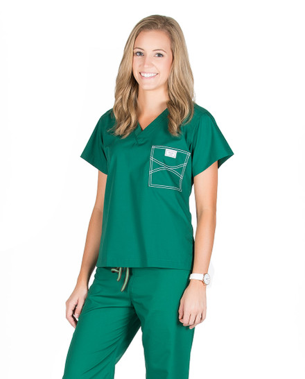 Pine Green Shelby Scrub Tops