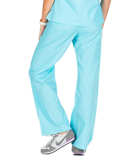 Turquoise Shelby Scrub Bottoms