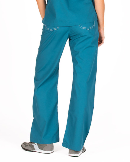 Caribbean Blue Shelby Scrub Bottoms