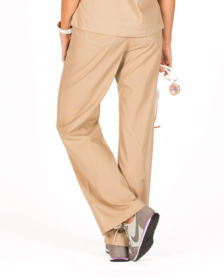 Safari Khaki Shelby Scrub Bottoms