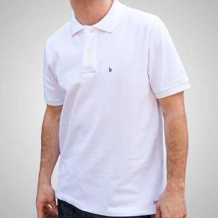Men's Medium White Hampton Cotton Polo
