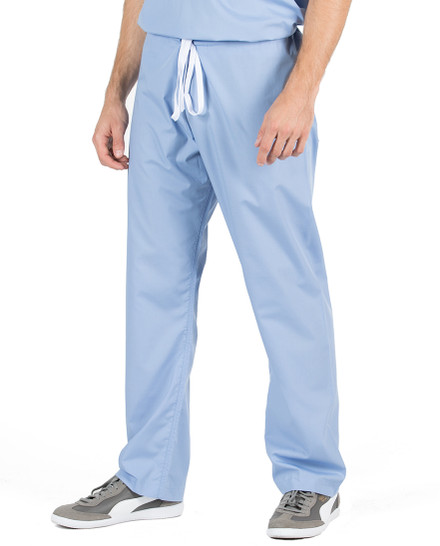 David Ceil Blue Slim Scrub Pants
