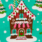 Gingerbread House Pony Scrub Hat - Image Variant_0