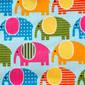Elephant Crossing Pony Scrub Hat by blueskyscrubs.com