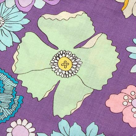 Floral in Violet Pixie Scrub Hat