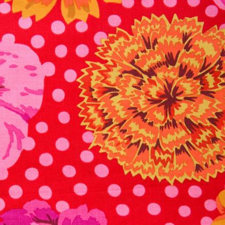 Chrysanthemum Delight Poppy Scrub Hat