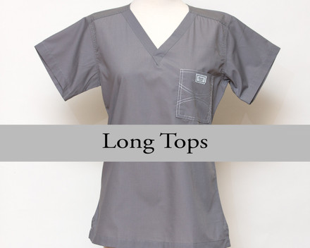 Medium Womens Long Shelby Scrub Tops