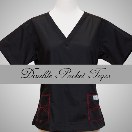 Small Womens Double Pocket Shelby Tops