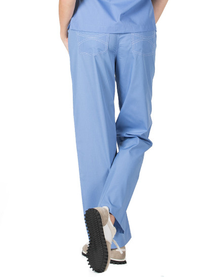 Ceil Blue Shelby Scrubs Pant - Petite Grey Label